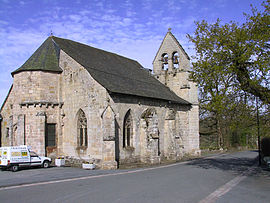 The church of Saint-Georges, in Tarnac
