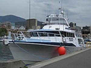 Tasmania Police - The PV Van Diemen, a boat operated by Tasmania Police