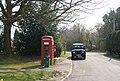Telephone box and postbox, Three Cups Corner - geograph.org.uk - 1252772.jpg