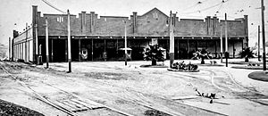 Tempe, New South Wales - Tempe Depot from the Princes Highway in the 1920s