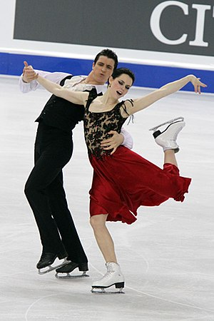 Ice dancing - 2010 Olympic gold medalists Tessa Virtue / Scott Moir perform a flamenco as their folk dance original dance.