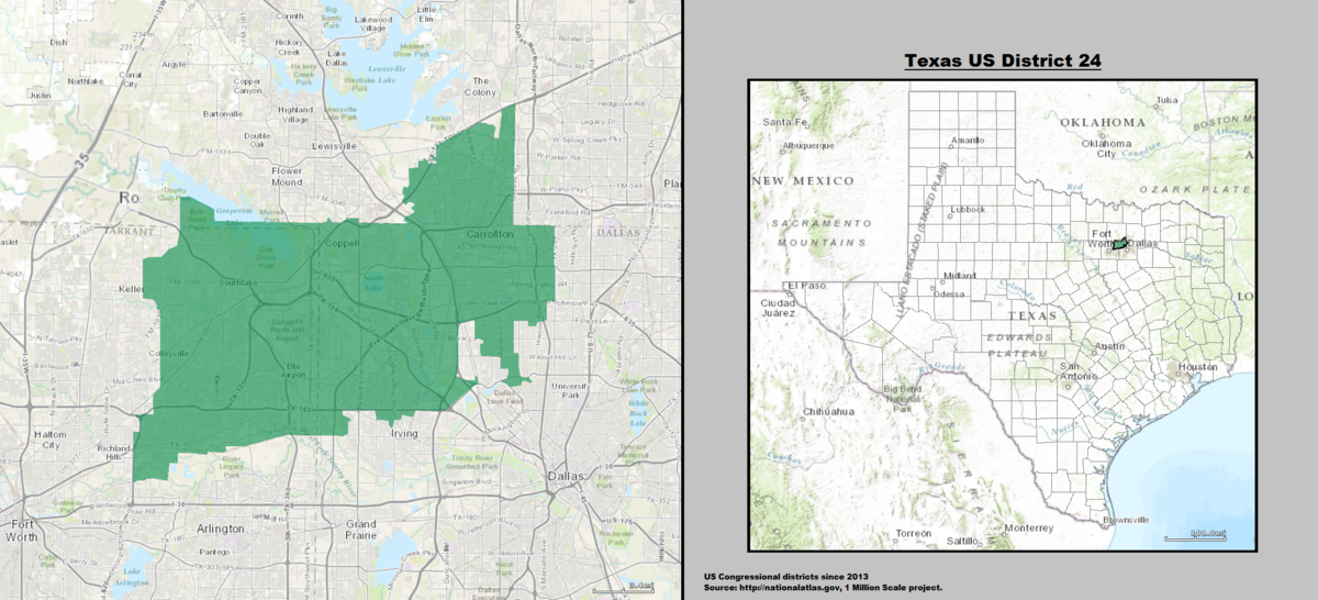 Texass Th Congressional District Wikipedia - Us 24 map
