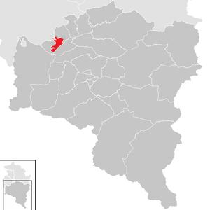 Thüringen, Austria - Image: Thüringen im Bezirk BZ