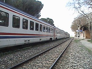 9th of September Express - The 9th of September Express at Ayvacık station.