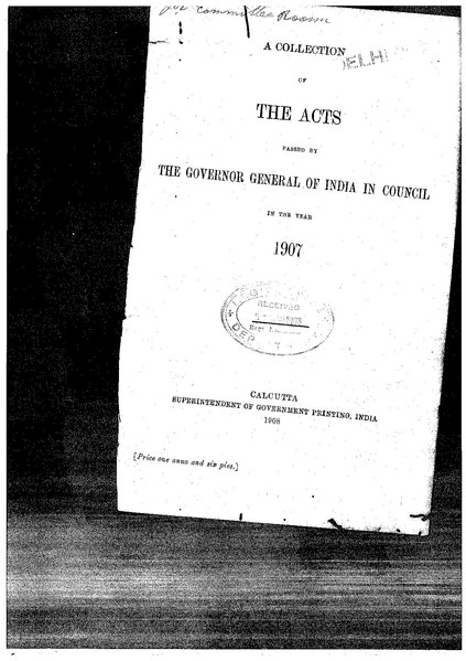 File:The Acts passed by the Governor General of India in Council in 1907.pdf