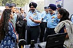 The Chief of the Air Staff, Air Chief Marshal B.S. Dhanoa interacting with the participants of exhibition after inauguration ceremony of seminar on Emerging Trends in Aviation Engineering and Logistics (AVIAMAT-2018).JPG