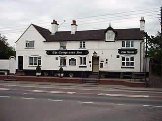Bayston Hill - The Compasses Inn, next to the A49, is one of three pubs in Bayston Hill.