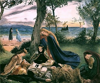 Avalon - Le Morte d'Arthur by James Archer (1860)