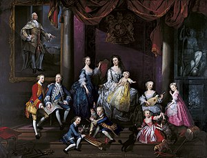 George Knapton - The Family of Frederick, Prince of Wales (1751)