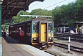 The Felixstowe train waits at Ipswich station - geograph.org.uk - 1522004.jpg
