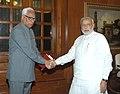 The Governor of Jammu & Kashmir, Shri N.N. Vohra calling on the Prime Minister, Shri Narendra Modi, in New Delhi on May 30, 2014.jpg