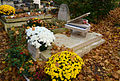 The Grave of France Clidat, Pere Lachaise Cemetery, Paris, France 2015.jpg