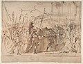 The Head of Pompey Presented to Julius Caesar (recto); Study for an Elaborate Door Frame (verso) MET DP811052.jpg