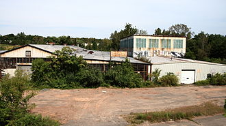 Deindustrialisation by country - This former industrial site in Connecticut was used for office space after the manufacturer ceased operations in 1994.