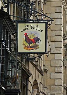 Image result for ye olde cock tavern