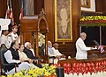 The President, Shri Pranab Mukherjee addressing at the ceremony to launch the Goods & Service Tax (GST), in Central Hall of Parliament, in New Delhi.jpg