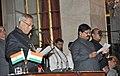 The President, Shri Pranab Mukherjee administering the oath as Minister of State to Shri Sarvey Sathyanarayana, at a Swearing-in Ceremony, at Rashtrapati Bhavan, in New Delhi on October 28, 2012.jpg