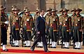 The President of Russia, Mr. Dmitry A. Medvedev inspecting the Guard of Honour at a ceremonial reception at Rashtrapati Bhavan in New Delhi on December 05, 2008.jpg