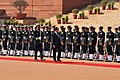 The President of the Republic of France, Mr. Francois Hollande inspecting the Guard of Honour, at the ceremonial reception, at Rashtrapati Bhavan, in New Delhi on February 14, 2013.jpg