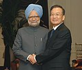 The Prime Minister, Dr. Manmohan Singh meeting with the Prime Minister of China, Mr. Wen Jiabao, during his visit to the United States, in New York on September 24, 2008.jpg