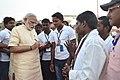 The Prime Minister, Shri Narendra Modi at the Assi Ghat, in Varanasi, Uttar Pradesh on May 01, 2016 (1).jpg