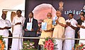 The Prime Minister, Shri Narendra Modi releasing Synopsis of the Green Rameswaram Project, at Rameswaram, Tamil Nadu.jpg