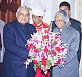 The Prime Minister Shri Atal Bihar Vajpayee meets the President Dr. A.P.J Abdul Kalam to greet him on ' Happy New Year' in New Delhi on January 01, 2004.jpg