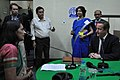 The Prime Minister of United Kingdom, Mr. David Cameron giving an interview during his visit to All India Radio, Kolkata on November 14, 2013. The Director General (News), AIR, Ms. Archana Dutta is also seen.jpg