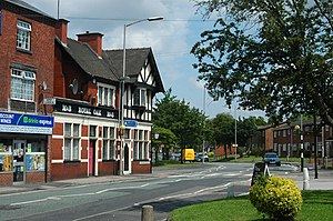 Langley Green, West Midlands - The B4169: Causeway Green Road (in foreground) and New Henry Street, Langley Green