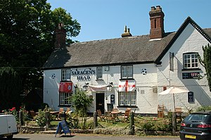 Shirley, Derbyshire - Image: The Saracen's Head, Shirley 724441