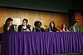 The SiO2 Ceiling-A Frank Discussion on Women in Science-Jeanne Garbarino (moderator), Cady Coleman, Elise Andrew, Latasha Wright, Heather Berlin & Deborah Berebichez at NECSS-April 2014.JPG