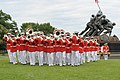 The U.S. Marine Drum and Bugle Corps performs during the Sunset Parade June 5, 2012, at the Marine Corps War Memorial in Arlington, Va 120605-M-MI461-204.jpg