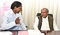The Union Minister for Mines and Steel, Shri Narendra Singh Tomar meeting the Chief Minister of Telangana, Shri K. Chandrashekar Rao, in Hyderabad on June 22, 2015.jpg
