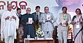 The Vice President, Shri M. Hamid Ansari releasing the book titled 'A Visionary Leader of the Century', published by Odisha Live, at the function to mark the Birth Centenary Celebrations of Biju Patnaik, in New Delhi.jpg