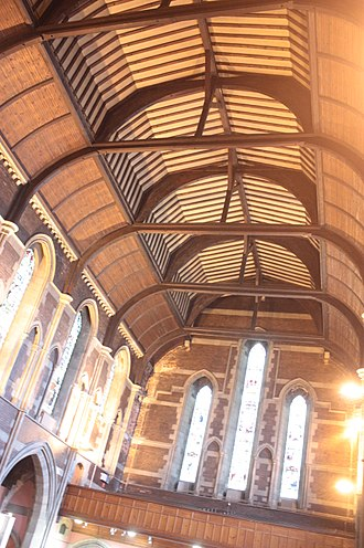Govan Old Parish Church - The ceiling of Old Govan Parish Church