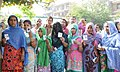 The female voters displaying their identity card, at a polling booth during the 3rd Phase of General Elections-2014, in Ghaziabad, Uttar Pradesh on April 10, 2014.jpg