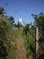 The footpath climbs toward the railway, Llanbadarn Fawr - geograph.org.uk - 1453013.jpg