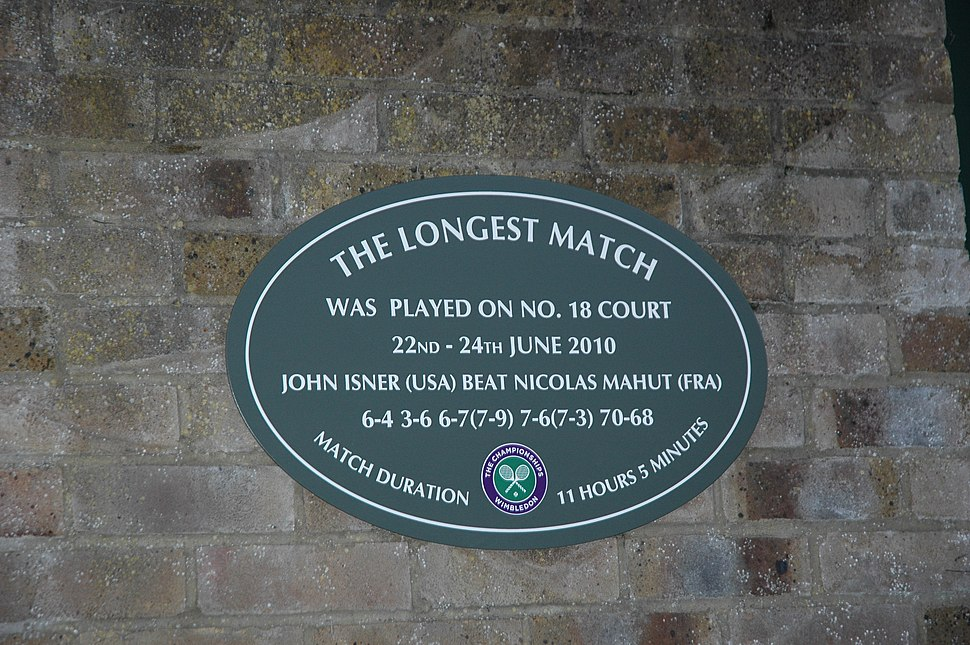 The longest match ever played at Wimbledon