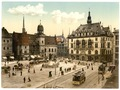 The market place and side of Hotel de Ville, Halle, German Saxony, Germany-LCCN2002720633.tif