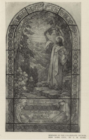 West End Collegiate Church - Stained glass window design by Clara Miller Burd for Collegiate Church, New York City