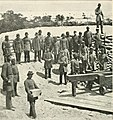 J.D. Edwards photograph of Confederates occupying batteries outside Fort Pickens