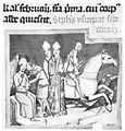 The robbing of the crown in the 1160s, in the Chronicon Pictum.jpg