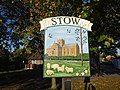 The village sign at Stow (geograph 5932300).jpg