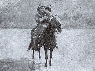 The Virginian (1914 film) - The Virginian rescues Molly.