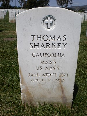 Tom Sharkey - Sharkey's headstone