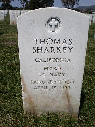 Tom Sharkey - Sharkey's headstone