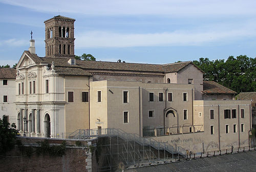 The Basilica di San Bartolomeo all'Isola on Tiber Island. Tiber.island.church.rome.arp.jpg