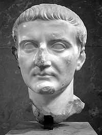 The younger Emperor Tiberius.  Bust from the Louvre, Paris.