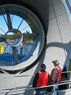 Shrouded tidal turbine a type of tidal stream generator used in tidal power stations