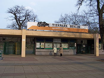 English: Main entry of Tierpark Berlin Deutsch...